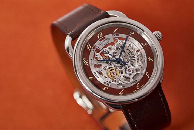 Kim đồng hồ của Hermes chính hãng vô cùng tinh tế và cân đối