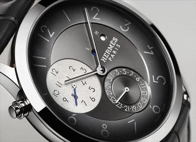 Mặt kính đồng hồ của Hermes được làm từ kính Sapphire cao cấp
