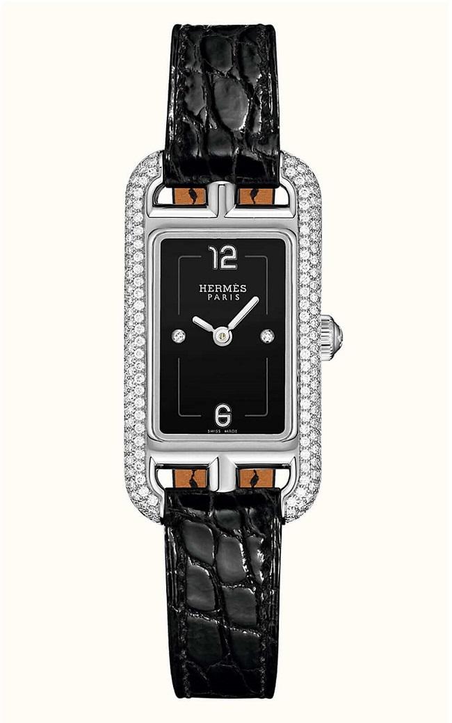 Hermes Nantucket Serti Joaillier Watch